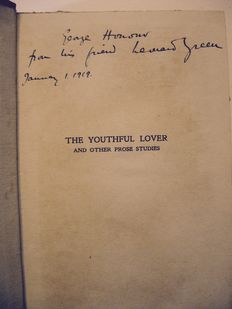 Leonard Green - The Youthful Lover and other Prose Suites - 1919