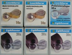 Leuchtturm - Jeweller's precision magnifying glass, 10 x and 20 x  magnification (six (6) pieces)