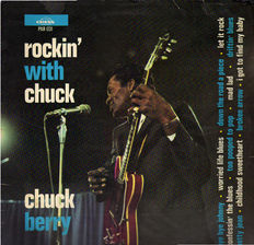 In Memoriam Chuck Berry: 10 original vinyl albums (11 LPs) of the King of Rock 'n' Roll.