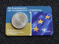 """The Netherlands - 5 Euros 2004 """"Europe coin"""" in coin card."""