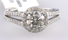 1.64ct Diamond Engagement Ring - 14kt gold - size 6,5
