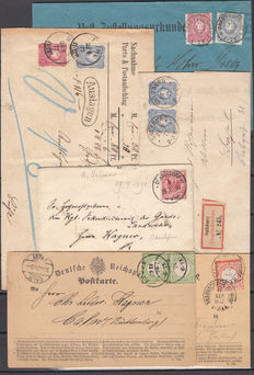 German Empire 1872/1880 – batch of 22 letters and fronts.