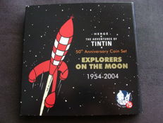 Europe - Tintin Explorers on the Moon – 50th anniversary coin set – Men on the moon – (2004).