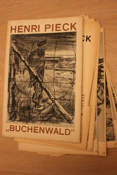Original color lithographs of Buchenwald by Henri Pieck