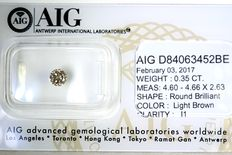 Diamond – 0.35 ct – no reserve price