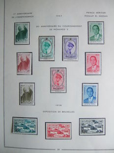 Morocco 1956 to 1991 - Advanced collection with airmail and 11 blocks on pages.