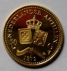 Netherlands Antilles – 50 guilder coin, gold - Juliana, 1979.