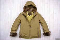Woolrich - Down Jacket With Rabbit Fur Lining
