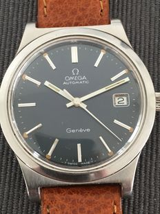 Omega Geneve Dark blue Dial men's wristwatch – Ca. 1960s