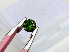 Green Diamond - Brilliant Cut - 0.20 ct - without reserve price