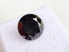 Fancy Black Diamond - Brilliant Cut - 5.145 ct - without reserve price