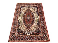 Marvellous oriental rug: Antique Kashmir in wool, 186 x 122 cm, circa 1960!!
