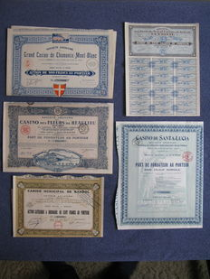 France: French Casinos - 1908/1930 5 pieces