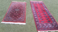 Two hand-knotted Afghanistan + India runners
