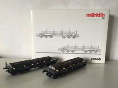 Märklin H0 - 48664 - Two-piece carriage set of low side cars