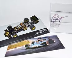 Various - Scale 1/43 - Lotus 72D British GP 1972 Emerson Fittipaldi & Lotus 79 Carlos Reutemann 1979 - Signed by Clive Chapman