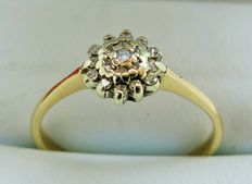9kt Gold Diamond Cluster Ring