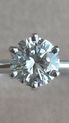 Solitaire 0.45 ct ring - USA size 6.5/7 - Circumference: 54 mm - Diameter: 17 mm Italian size: 14