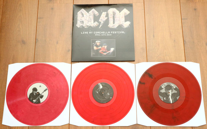 AC/DC ‎– Live At Coachella Festival 3lp/ Limited, numbered edition of 250 copies worldwide on red marbled wax/ NEAR MINT