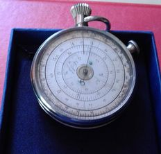 Rare plated chrome A. Boucher metering circle - France - ca. 1875