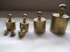 A set of 7 drop weights - Netherlands - 1870 - 1875