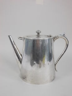 Old English silver plated teapot ART DECO/modern design c1935 marked B.M.