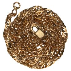 14 kt yellow gold twisted curb link necklace in 14 kt – Length: 36 cm