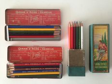 3 cans/boxes of old crayons