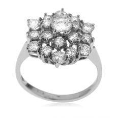 18kt White Gold Ladies' Diamond Entourage Ring (1.50ct). As New.