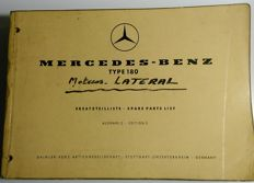 Mercedes Benz - W180 (side engine) type 220 / 220S - spare parts Catalogue - 1957