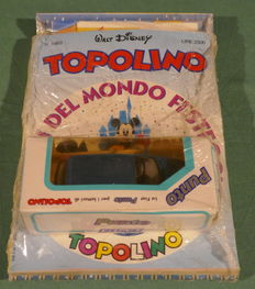 Walt Disney - lot 15x Topolino in blister + UNC coin, German Mint, minted for the emission of euros