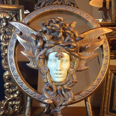 "Sculpture mirror ""Medusa"", Art Nouveau style, Second half 20th century, Germany"
