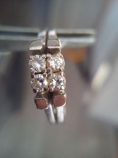 14 ct wit gouden 0,20 ct diamanten ring