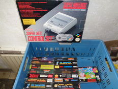 Super nintendo boxed incl  17 games