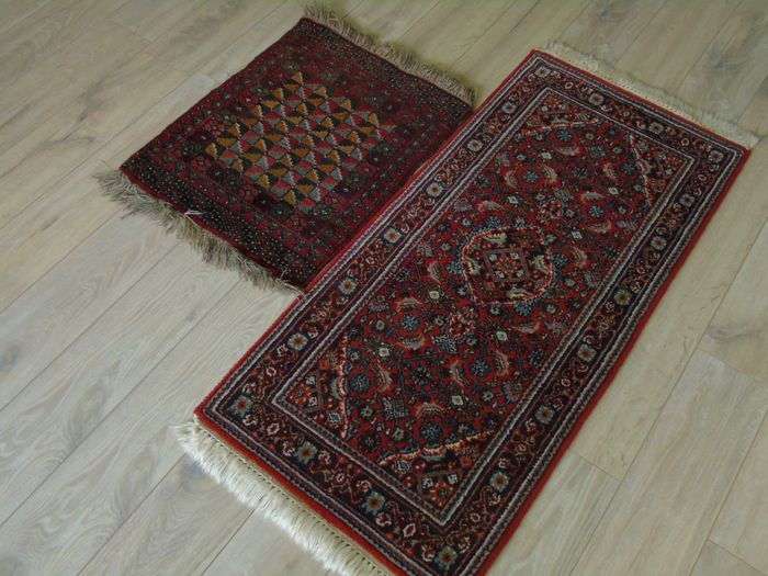 Very Nice Set Of Two Hand Knotted Rugs India Afghan Catawiki