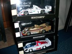Minichamps - Scale 1/43 - Lot with 3 models: 3 x Porsche 936 Le Mans & DRM