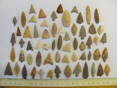 62 Neolithic arrowheads - 16/41 mm (62)