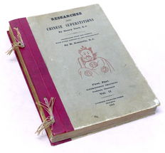 Henry Dorè - Researches into Chinese Superstitions - Vol. II - 1915