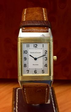 Jaeger LeCoultre Reverso Classic. 18 kt gold/steel. Men's watch. Wound. Year: 95