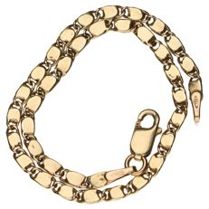 Yellow gold link necklace in 14 kt