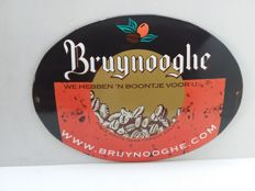 Bruynooghe koffie - Belgisch emaille bord uit 1995.