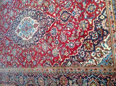Original & wonderful Persian Iran Kaschan 199x311 cm handknotted around 1990