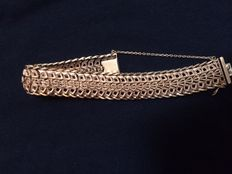 French antique yellow gold bracelet - Weighs 54 grams