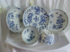 Lot of export porcelain cup and saucers – China – 18th century