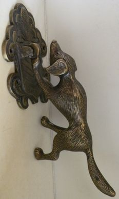 Door knocker in the shape of a dog, mid 20th century