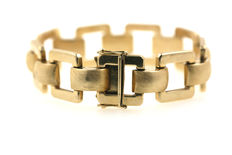 Gold bracelet made of solid 585 14 kt yellow gold - 19 cm