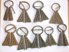 Lot of 9 Russian Mordva Culture brooches – 11th century
