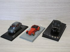 Replicars / Minichamps / Autoart - Scale 1/43 - Lot with 3 models: Donkervoort D8, BMW E1 & Dodge Viper SRT