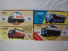 Corgi - Scale 1/50 - Lot with 4 Tankers: Foden, ERF, Leyland & Atkinson