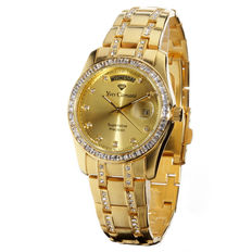 Yves Camani Auron Ladies Watch  Gold Gilded Zirkonia